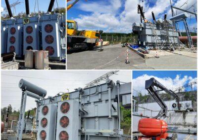 Mise en état de transport d'un transformateur ACEC 200MVA 400kV