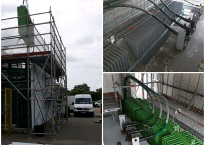 Fin de maintenance par les équipes de CG Service 🇫🇷 sur un transformateur 10MVA 20/5.8kV : - Remplacement des protections - Dimensionnement et Remplacement d'un des 2 radiateurs